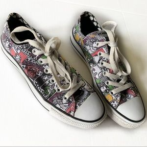 Converse All Star Shoes Comic Strip Size W7 M5